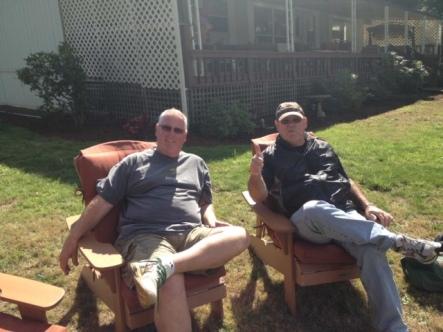 Gary & Del - fishin' buddiees!